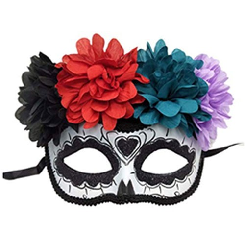 Plastic Halloween Mask With Glitter Powder
